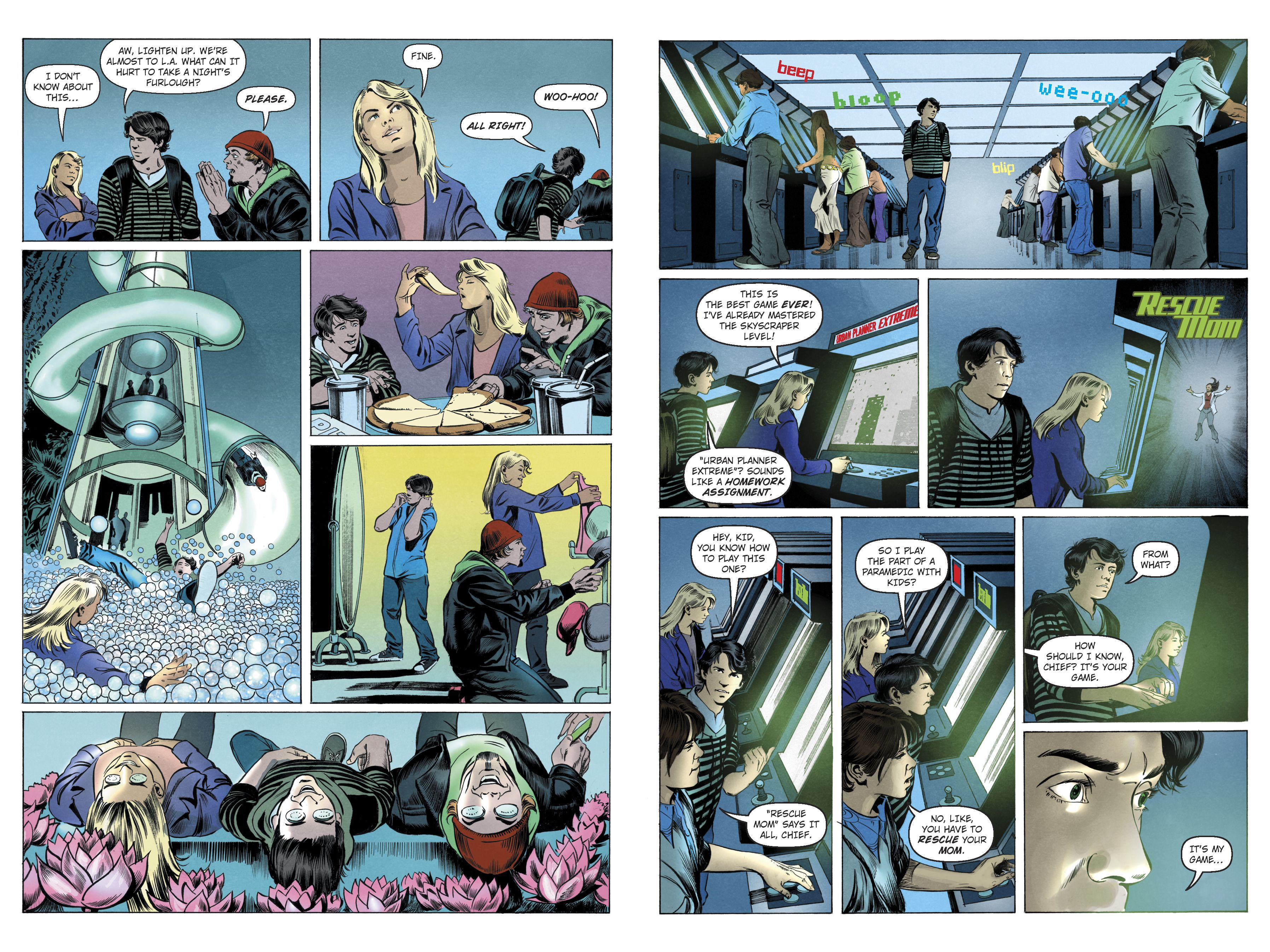 Pages From Percy Jackson And The Lightning Thief Graphic