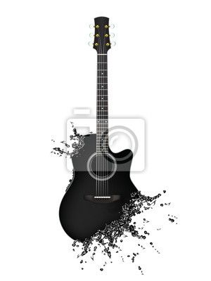 Electric Guitar Wall Mural Pixers We live to change Wall