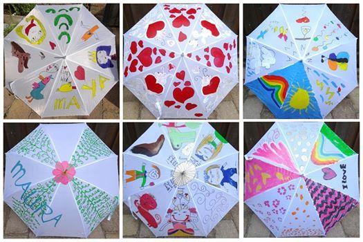 Paraplu pimpen- workshop voor kinderen- bij Knutselkantine.nl