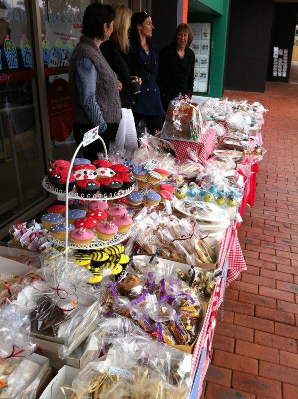Cake stall Bake sale displays, Cake stall, Food stall