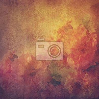 Carta da parati Vintage sfondo con fiori (rose)