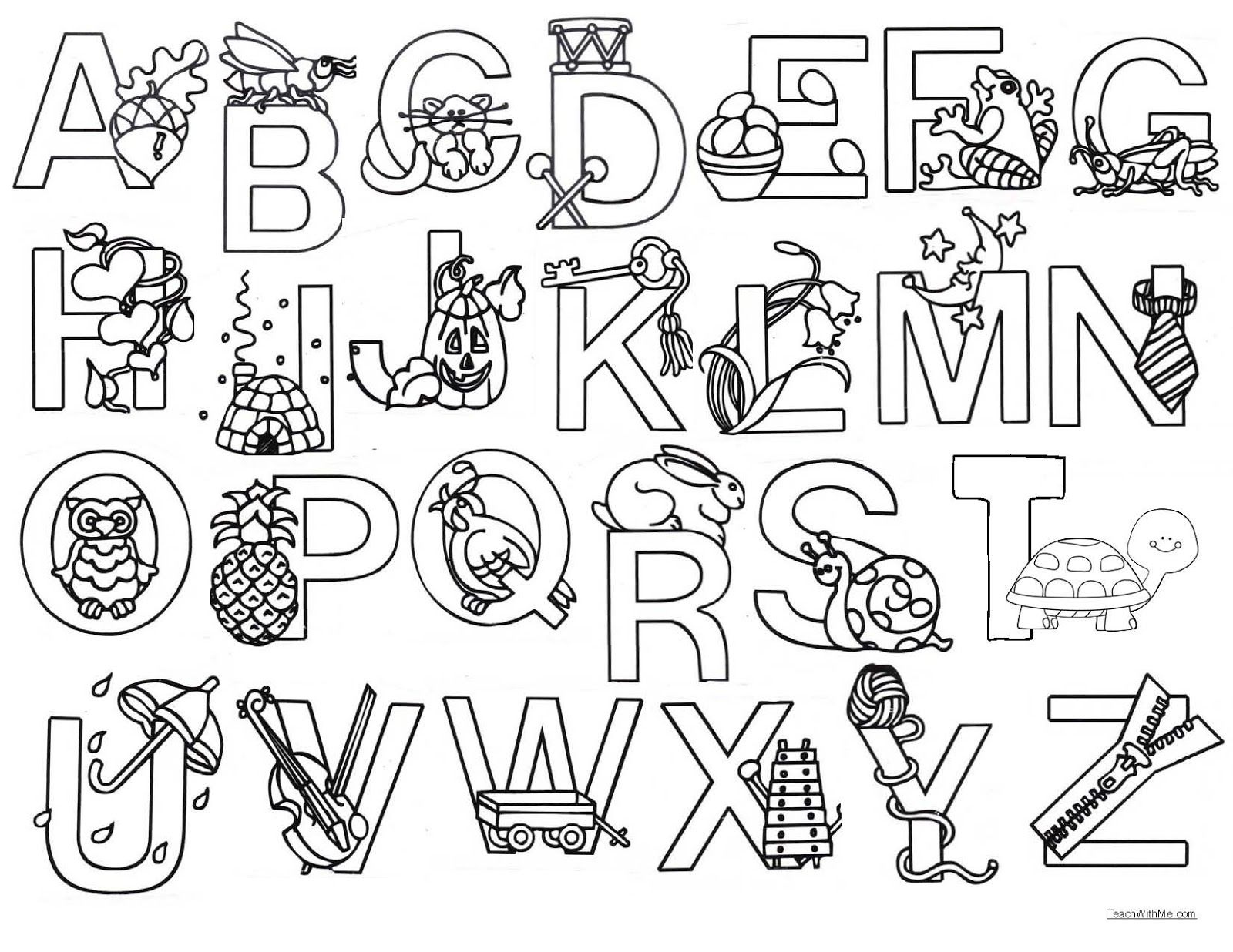 color me alphabet poster alphabet coloring pages