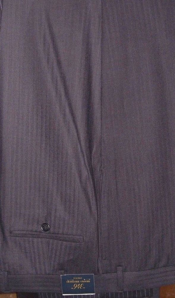 detailed pictures buy sale great quality Brooks Brothers 346 Men's Blue Black Dress Trousers Pants ...