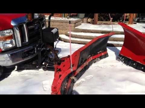 Battle Of The Snow Plows Hiniker Vs Western In 2021 Snow Plow Monster Trucks Westerns