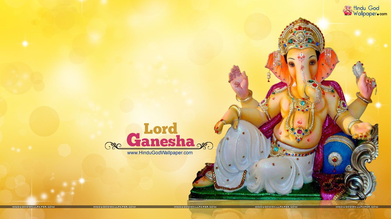 Beautiful Ganesh Murti HD Wallpaper Free Download