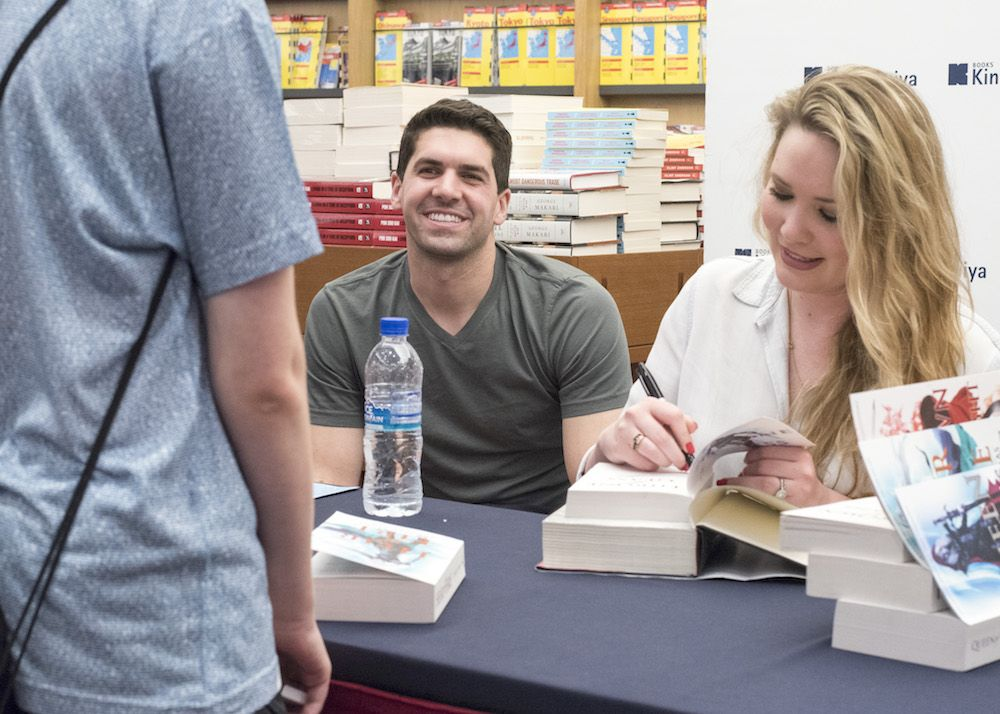 Sarah J. Maas with charming, Husband Josh