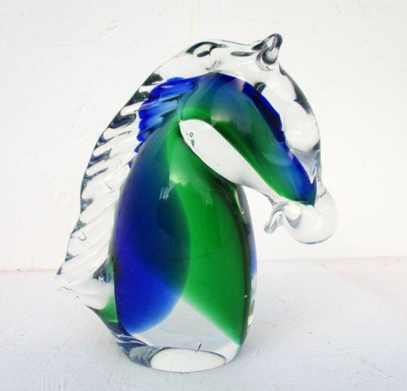 Collectible Glass Green and Clear Glass Swirl Original Murano Sticker Murano Glass Swan Candy or Trinket Dish Tealight Holder Vintage