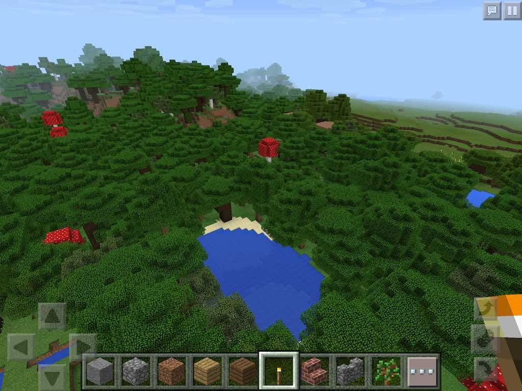 Roofed Forest By Request 0 14 Minecraft Pe Hq Minecraft Pe Seeds Forest Minecraft