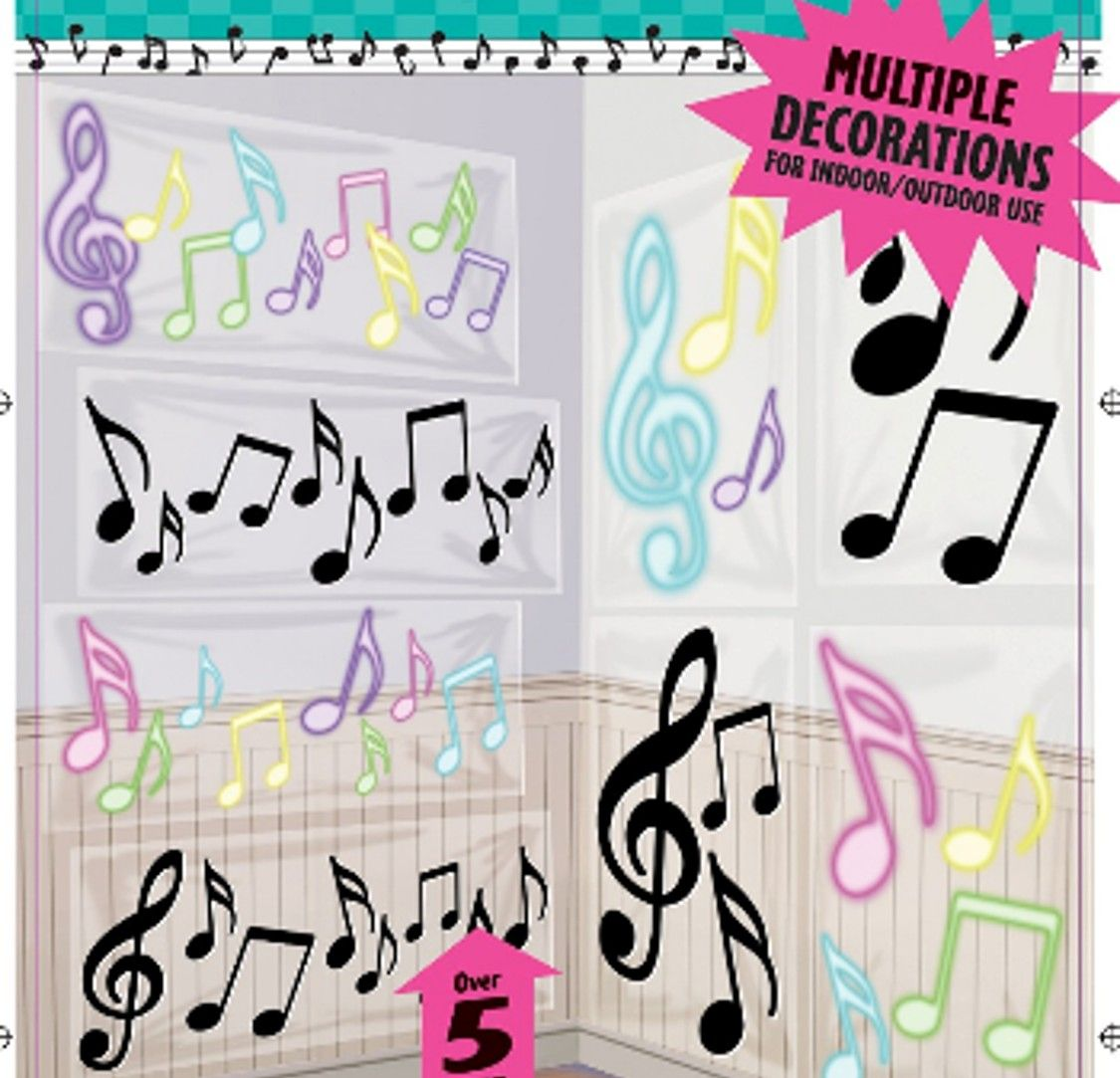 Music Themed Party Decorations Ideas Part - 30: Music Theme Party | Giant Music Themed Decorations Musical Notes :: Party  Kiosk
