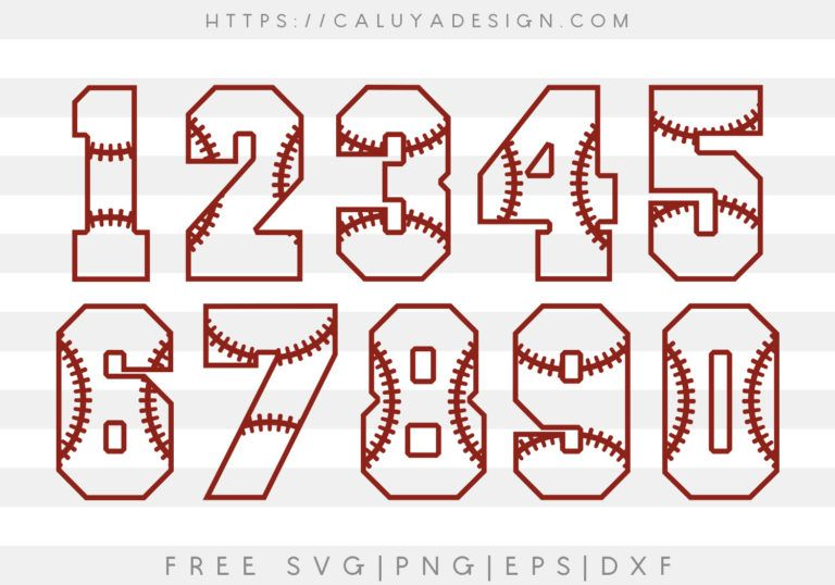 Free Svg Png Download Gallery By Caluya Design Baseball Numbers Baseball Cricut Baseball Fonts Free