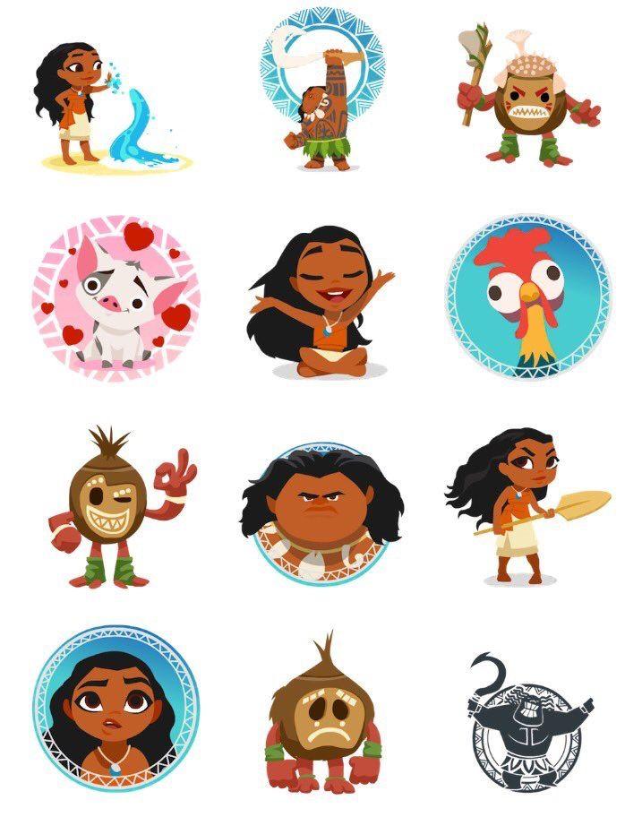 Moana Emoji Imagenes De Moana Personajes Moana Dibujos Bonitos