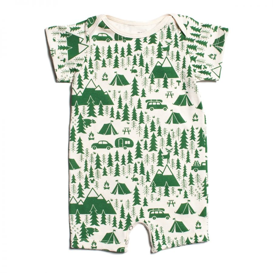afa5ed68ac28 Winter Water Factory Campground Summer Romper (green) at Black Wagon ...