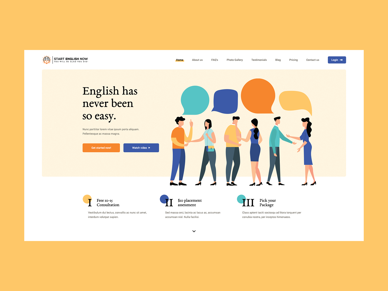 English Now Simple Website Design Minimal Web Design Web Layout Design