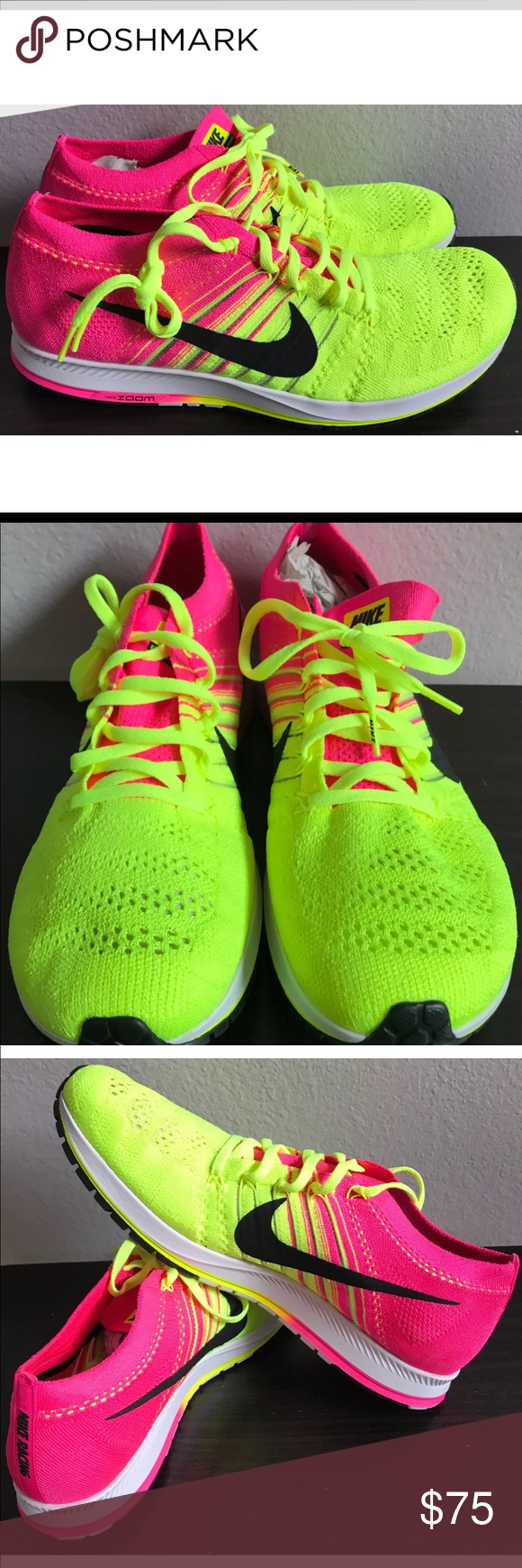 5a522465257b5 Nike Zoom Streak Flyknit Run Running Shoes Unisex BRAND  Nike MODEL  Nike  Flyknit Streak STYLE NUMBER  (835994-999) SIZE  Men  10.5   Women  12  CONDITION  ...