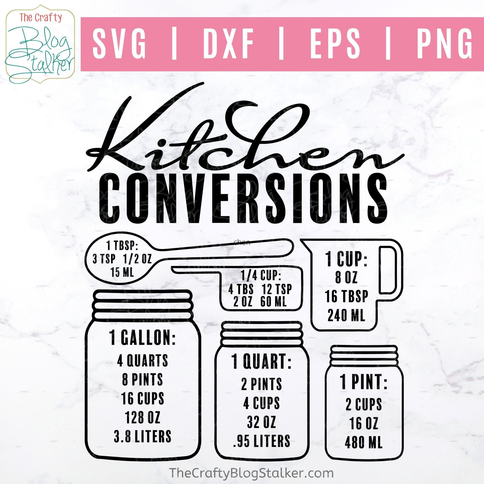 Download Kitchen Conversion SVG - Conversion Chart - Kitchen ...