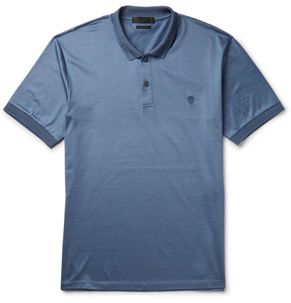 Alexander Mcqueen Cotton Jersey Polo Shirt Mr Porter Polo