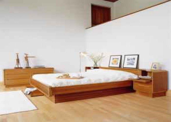 Vintage Mid Century Danish Modern Queen Teak Platform Bed ...