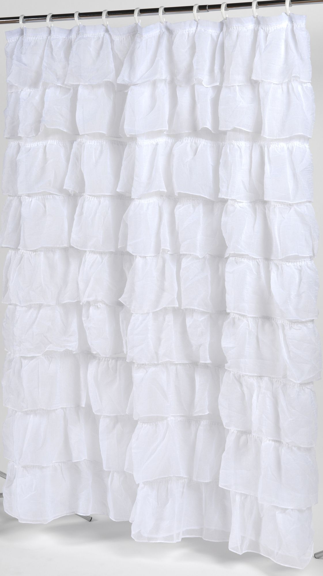 ruffle shower curtain diy home decorideas pinterest
