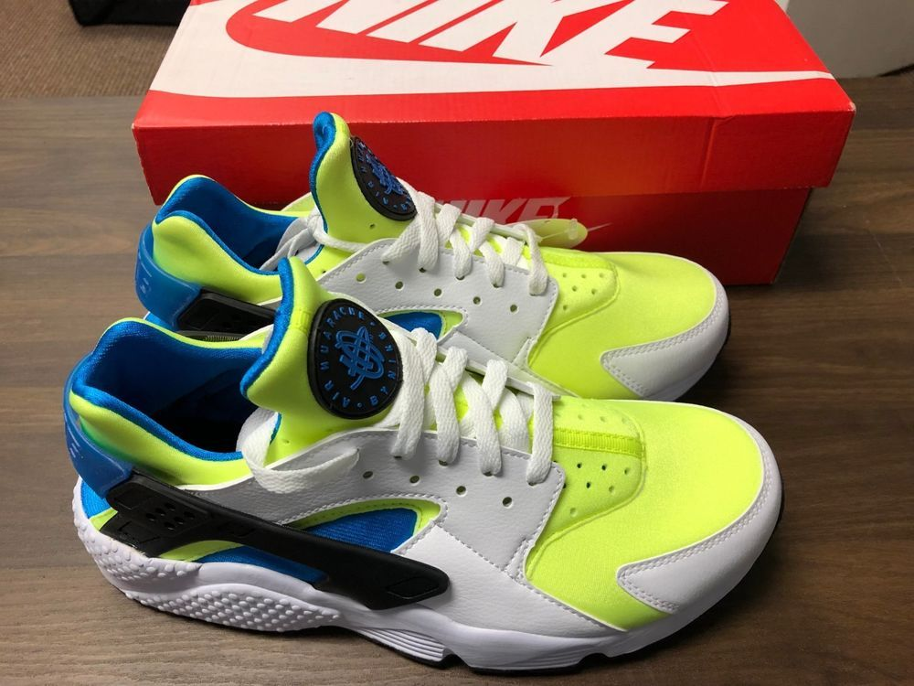 c959102ad5144 Nike Air Huarache Run Ultra Men s Size 10 US White Volt Black Photo Blue   fashion  clothing  shoes  accessories  mensshoes  athleticshoes (ebay link)