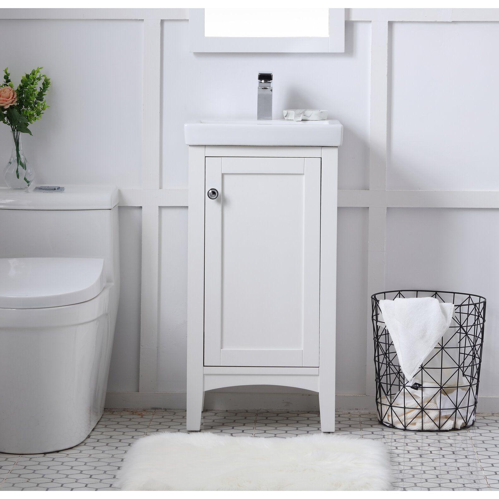 Aramis 18 Single Bathroom Vanity Set Small Bathroom Vanities Single Bathroom Vanity Home Depot Bathroom Vanity [ 1600 x 1600 Pixel ]