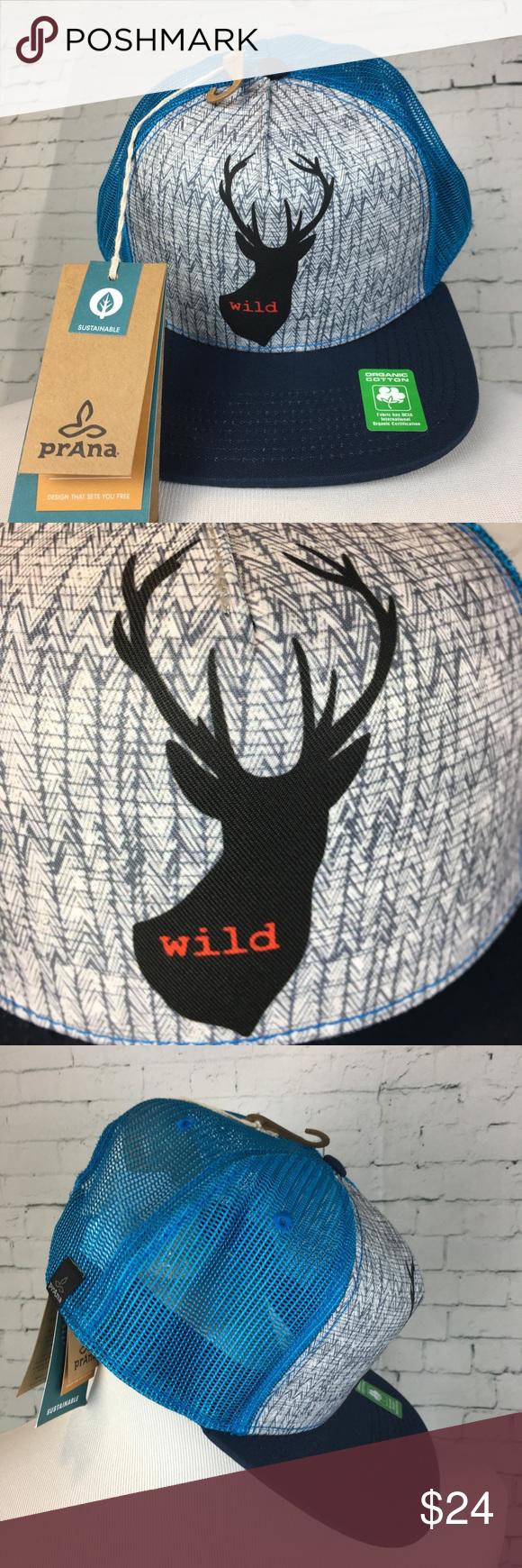 ec28e7f7 NWT PrAna Trucker Hat Buck Wild NWT PrAna Journeyman Buck Wild Trucker Hat  is made with
