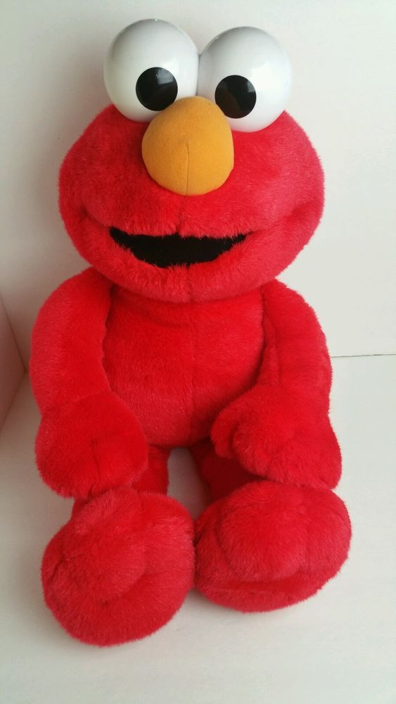 Jumbo Tickle Me Elmo Sesame Street 2002 Giant Plush Battery Operated