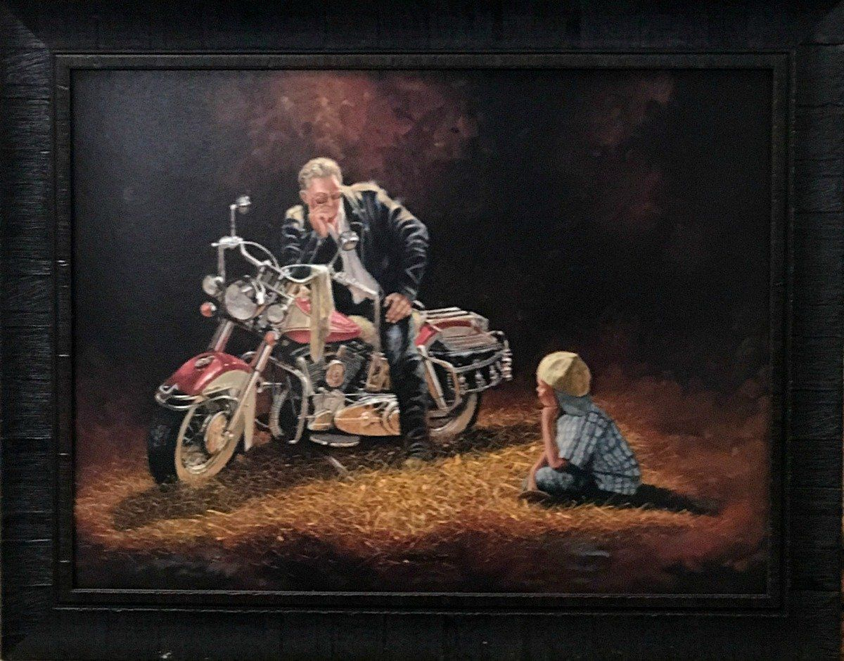 Dave Barnhouse  Motorcycle Three Different Prints