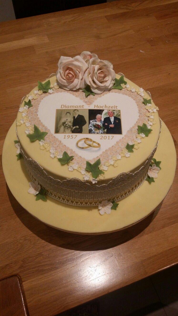 Diamantene Hochzeit Torte Torten Pinterest