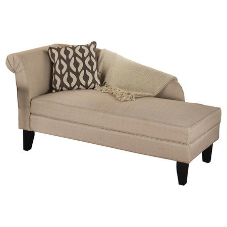 Chaise With One Rolled Arm And Under Seat Storage Product Storage Chaise Construction Material Hard Storage Chaise Lounge Chaise Lounge Storage Chaise