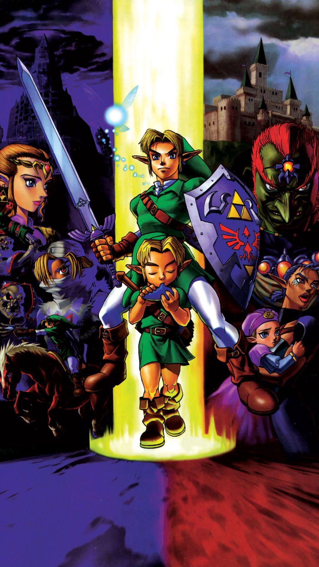 Legend Of Zelda Ocarina Of Time Mobile Phone Wallpapers Legend