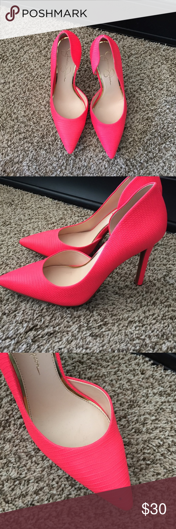 68fdf7c2a1b6 Jessica Simpson hot pink heels. Hot pink Jessica Simpson heels size 8  m.like new. Small imperfection on the toe. Jessica Simpson Shoes Heels
