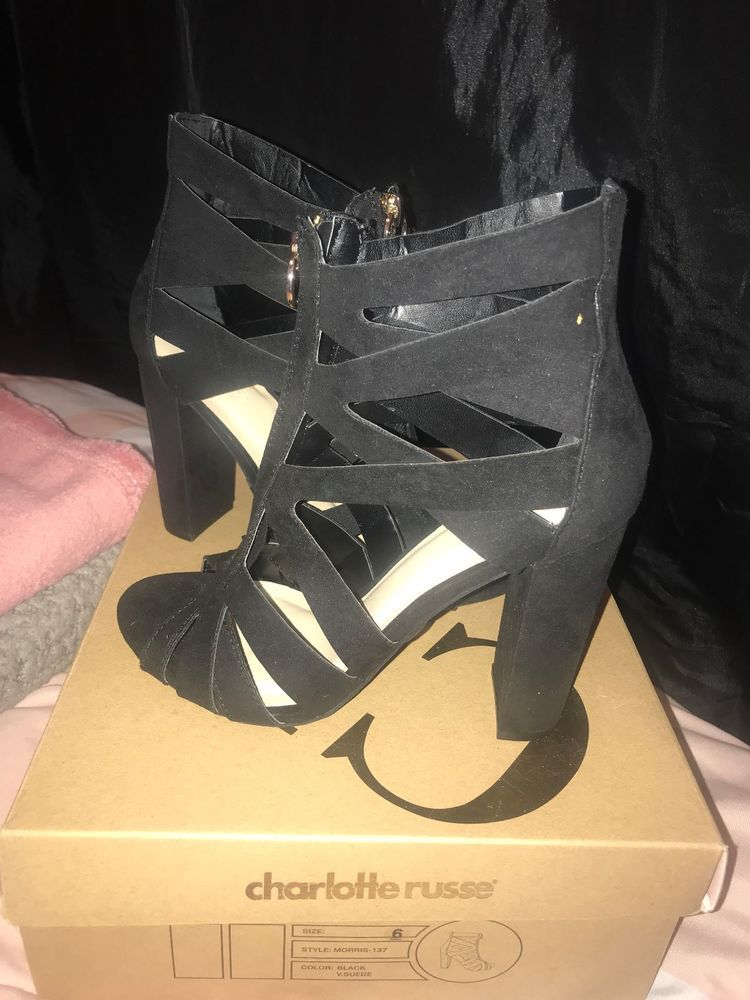 9e12cb74773 charlotte russe womans heels never worn with box size 6 black  fashion   clothing  shoes  accessories  womensshoes  heels (ebay link)