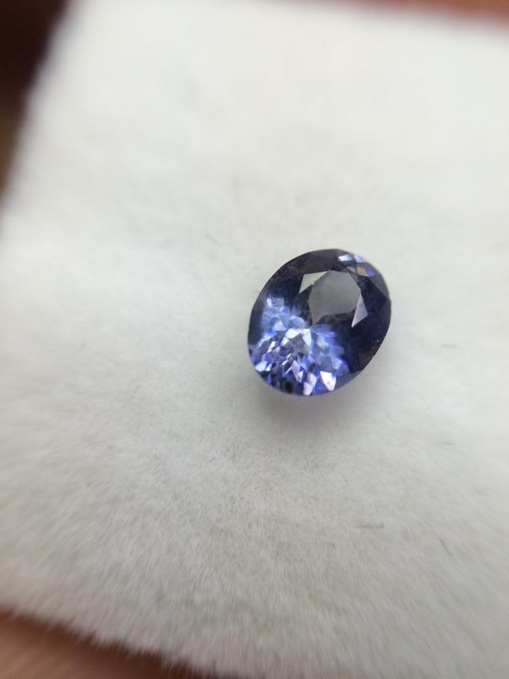 Benitoite, state gem of California. Beautiful blue/violet