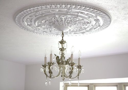 delightful ceiling gallery decorating popular chandelier beautiful paint medallion room traditional designing home in diy medallions design ideas dining fabulous