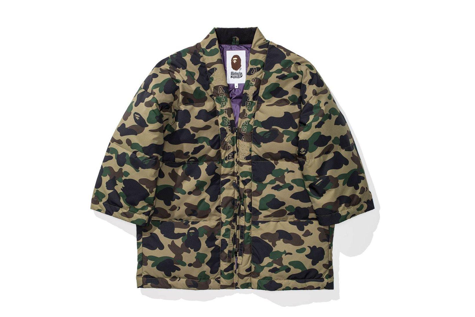 15948d8d4a1a BAPE s 1ST CAMO Hanten Down Jacket Will Add Flair to Your Winter Wardrobe