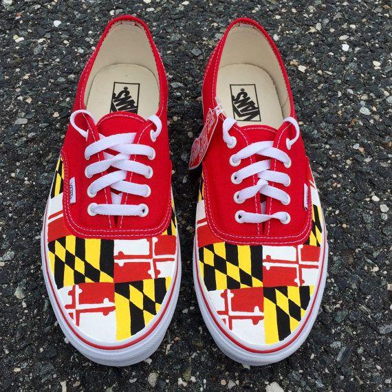 eeb56cec5c Maryland Flag Vans by Custom410Creations on Etsy ...