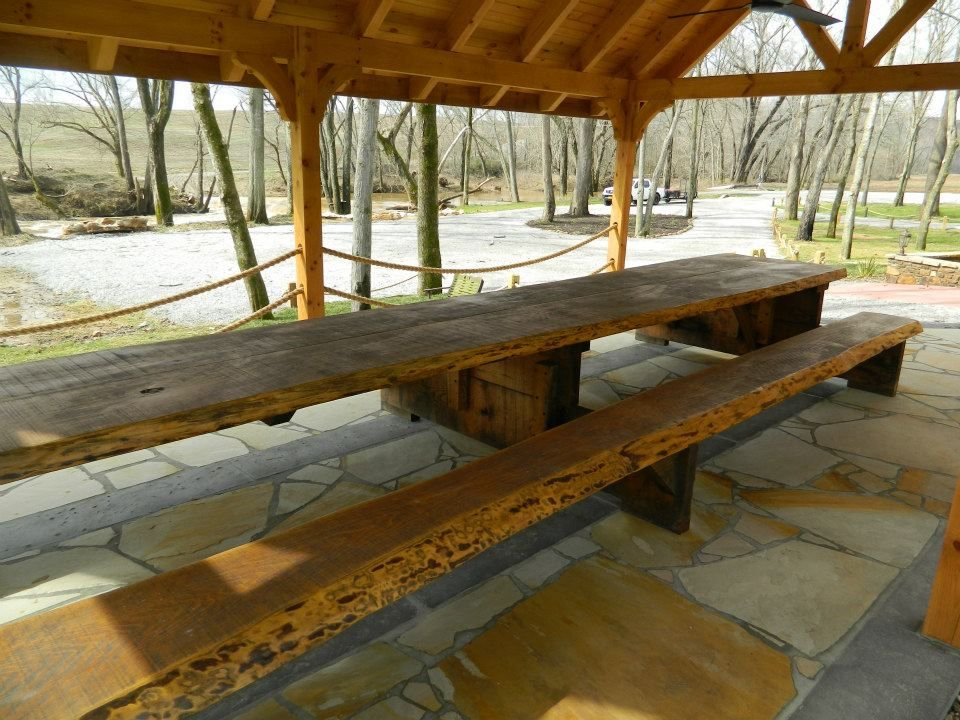 This Incredibly Long Picnic Table Is Great For Huge Gatherings - Huge picnic table