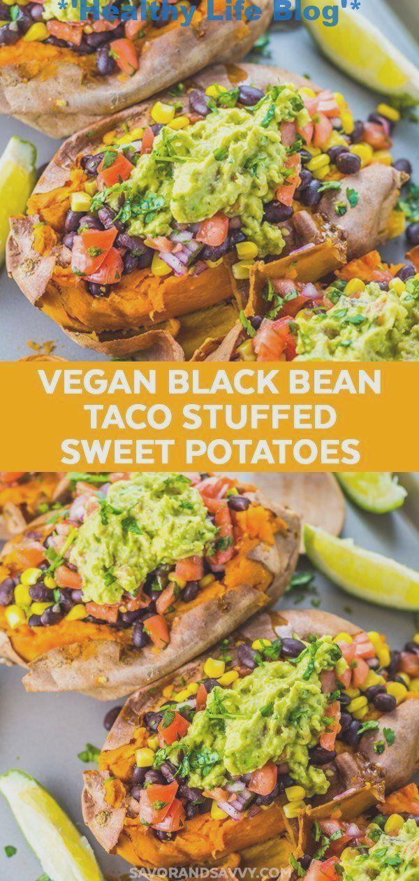 Gesunde und einfache Idee für ein Abendessen: Lassen Sie diesen schwarzen Gemüsebohnen-Taco satt aussehen!
