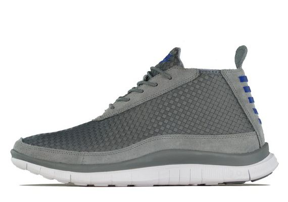 Nike Free Woven Chukka – Cool Grey – Hyper Blue