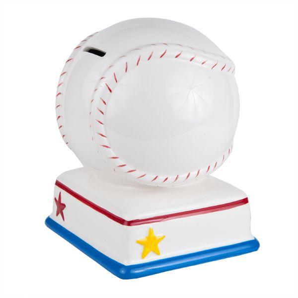 Ceramic baseball piggy bank kid 39 s allstar piggy bank great functional children 39 s - Ceramic piggy banks for boys ...