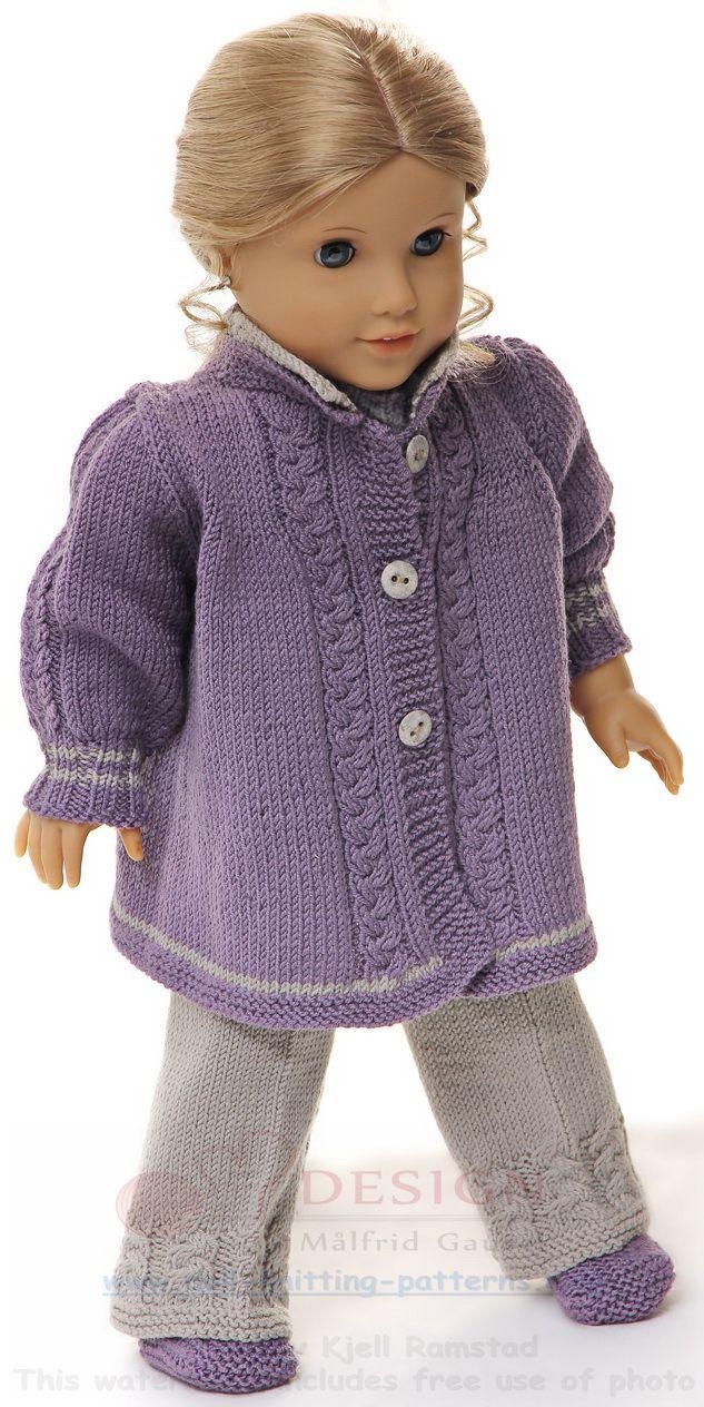 Puppensachen stricken anleitung | Puppen | Pinterest | American ...