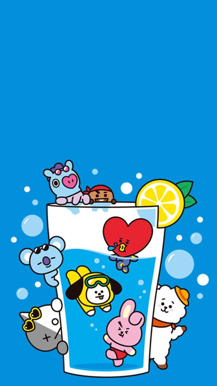 The Cool Lemonade Of BT21 Who Is Drinking But Not