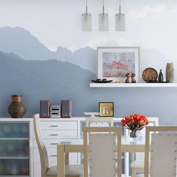 Fototapete Berge Haus deko, Fototapete, Exklusive tapeten