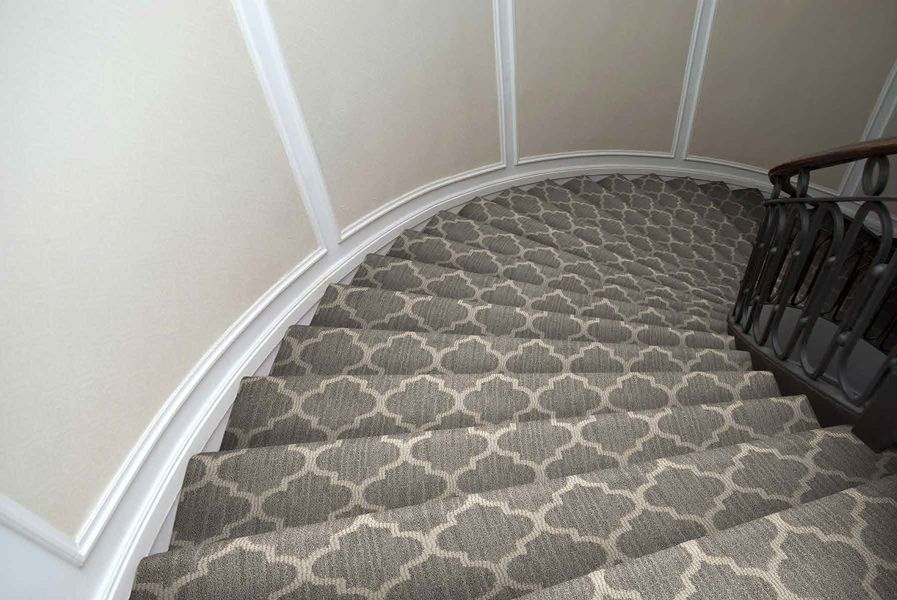 Taza Z6876 00756 Carpet Flooring Carpet Stairs Patterned Stair Carpet Rugs On Carpet