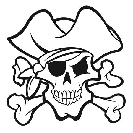 dessin tte de mort pirate a colorier