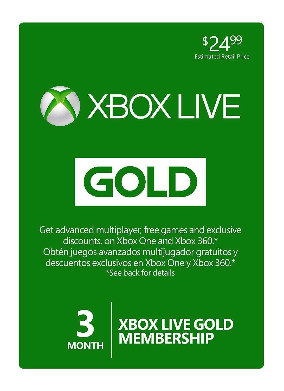 Xbox Live GOLD membership gift card Xbox live, Xbox