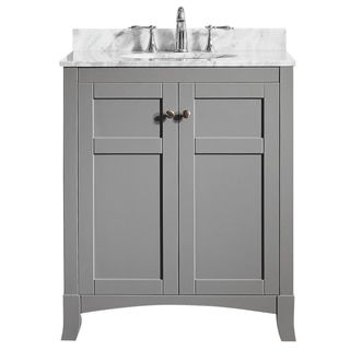 Shop for Arezzo 30-inch Single Vanity in Grey with Carrara White Marble Top without Mirror. Get free delivery at Overstock.com - Your Online Furniture Outlet Store! Get 5% in rewards with Club O!