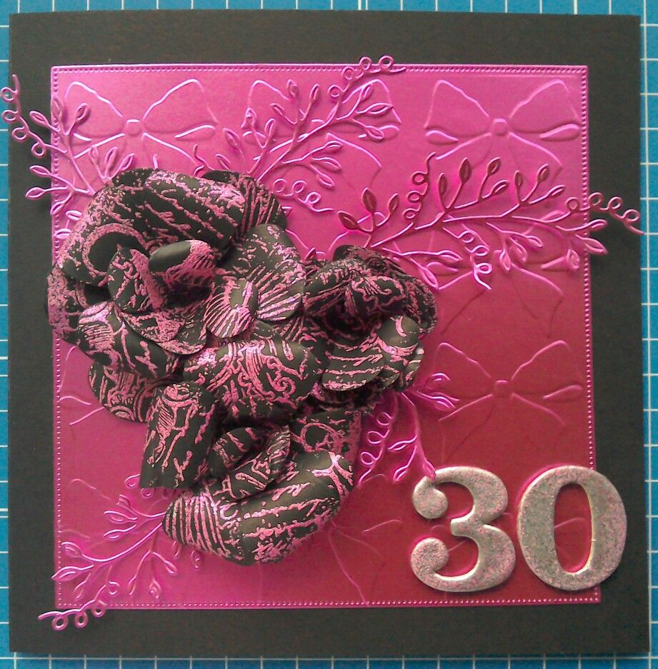 30th Birthday card with Tattered Lace dies, Indigo Blu