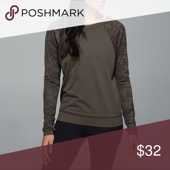 Lulu Lemon long sleeve Thumb holes and breathable material! Perfect for runs or yoga on a chilly day! I took out the tag so I don't remember what size it is but it fits like a Women's M/L. No wear or tear ! lululemon athletica Tops Tees - Long Sleeve
