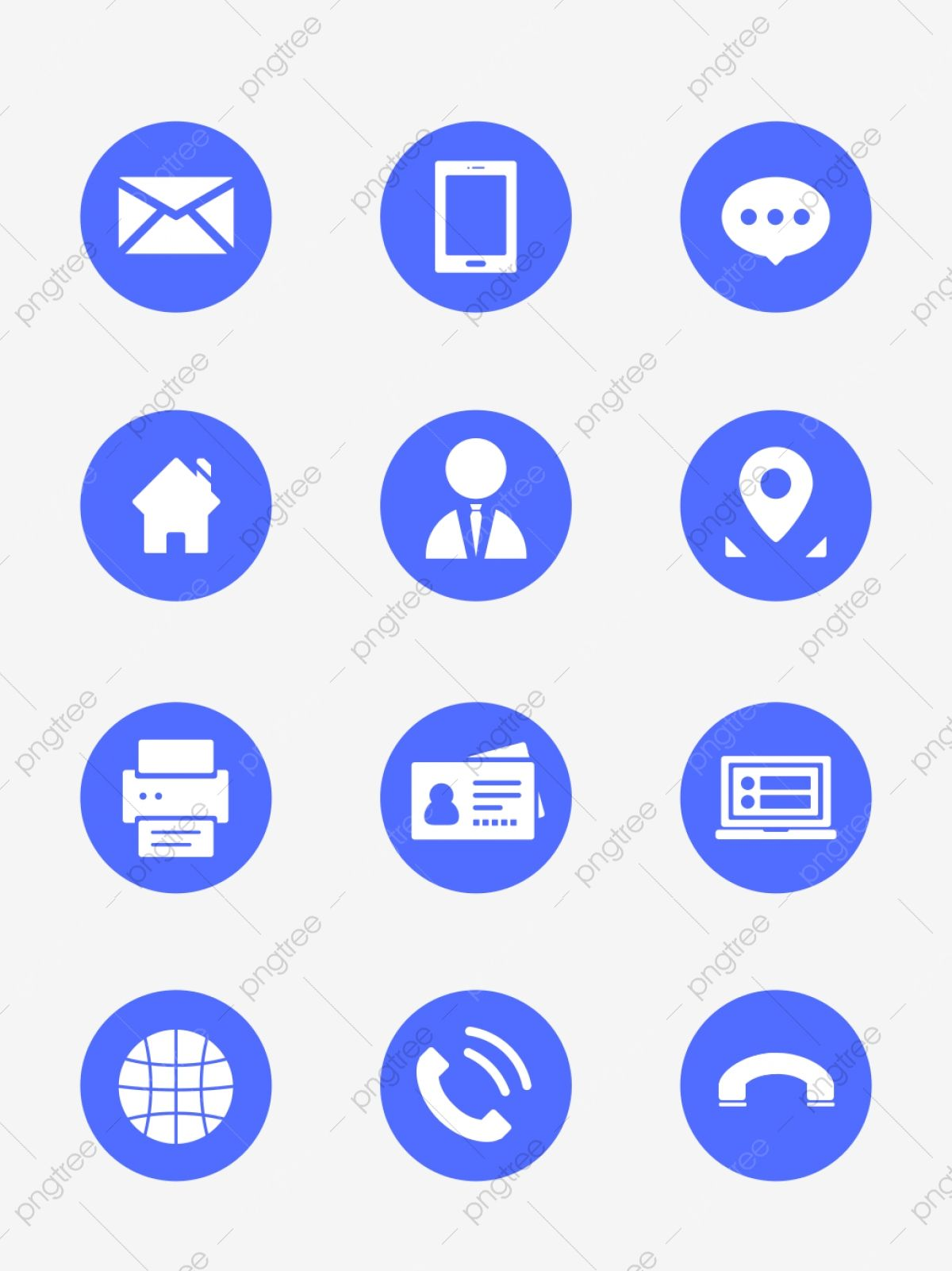 Round Contact Icon Vector Material Picture, Small Icon
